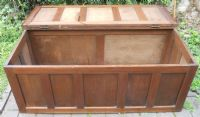 Oak Panelled Coffer Blanket Box